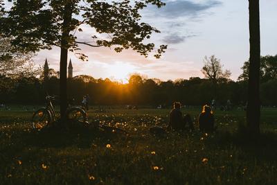 English Garden park sunset, Munich - example preset