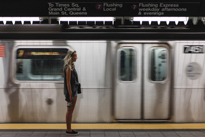 NYC subway train in motion - example preset