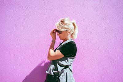 Pink wall in LA (California, USA) - example preset